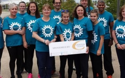 Sponsored  Abseil-relay  for  the  NHS  Trust  Rheumatology  Department